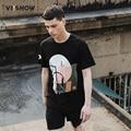 VIISHOW Fashion Geometric Printed Men T shirt Short Sleeve Casual t-shirt Men tees And Tops Hombres De Camisetas T Shirt Men