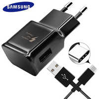 Samsung  S8 S9 Plus S 8  Fast Charger Original Adaptive Quick Travel Wall Adapter Charge 1.2M Type C Cable 9V1.67A&5V2A Charging