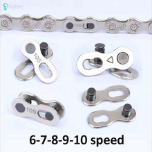 1 pair Bike Chains Mountain Road MTB Bike Chain Connector for 6/7/8/9/10 Speed Quick Link Repair Tool Parts Bicycle Bike Chain(China)