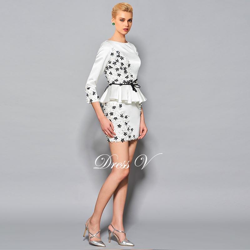 e346820b29 ... longitud mangas formal corto vestido de fiesta 2017 vestidos de cóctel.  1 2 3 4 ...