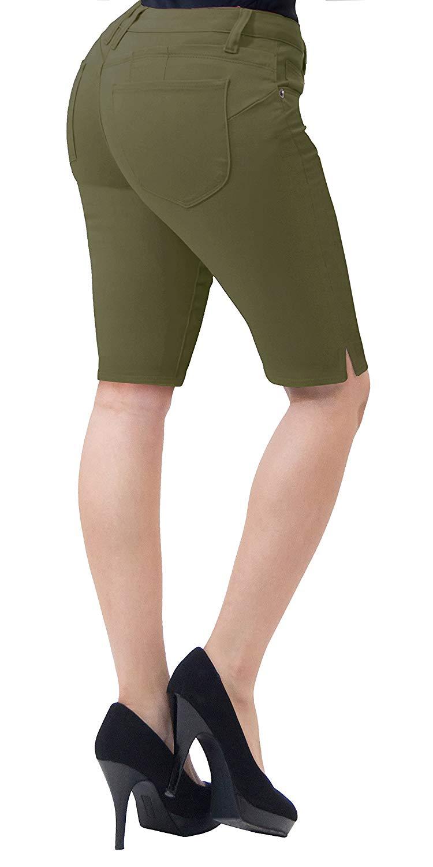Trasero Bermudas 5 Piezas Stretch pantorrilla Levantar Shorts