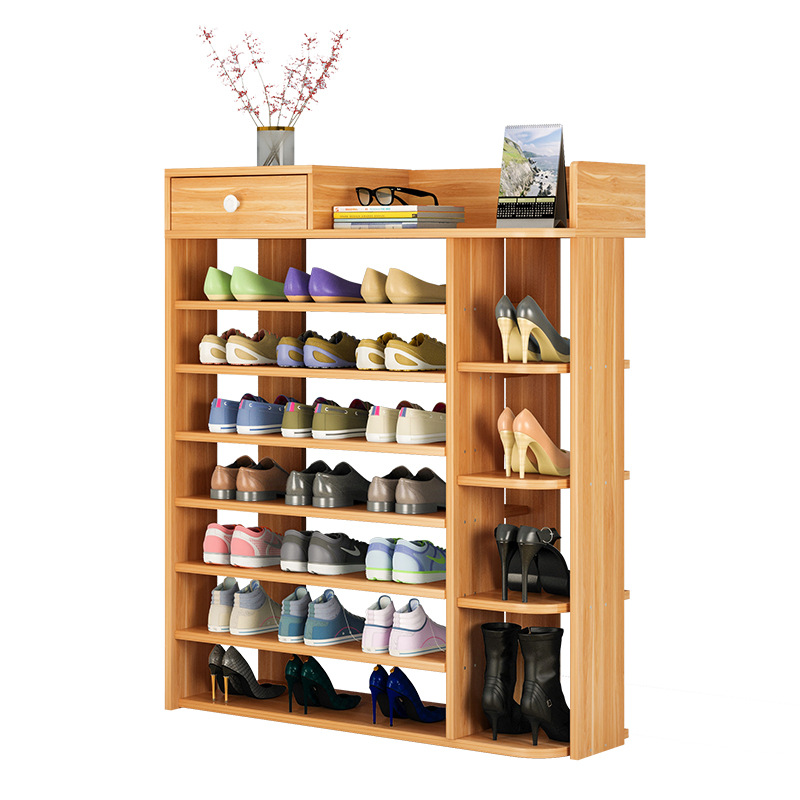 Wooden Shoe Box Storage.Modern Multilayer Shoe Cabinet Wooden Shoe Box Storage Box Shoe Organizer Thickened Shoe Box Assembly Economical Dustproof Home
