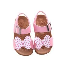 Милые девочки сандалии обувь лук минни микки Летний пляж обувь для 1-7yrs девушки дети детские девушки ванна на открытом воздухе обувь горячая