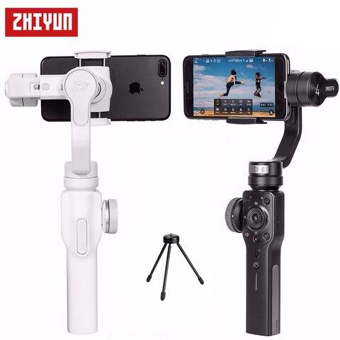 Estabilizador para Iphone s8 + s8 + Cardan Zhiyun Suave Cardan Handheld 4×8 7 Plus Samsung Galaxy Mini Tripé 3-eixo