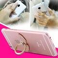 De metal que bling diamante anel de dedo rotação case capa para iphone 5s se 6 s 7 plus para samsung s5 s6 mate 9 estande carro celular corpo