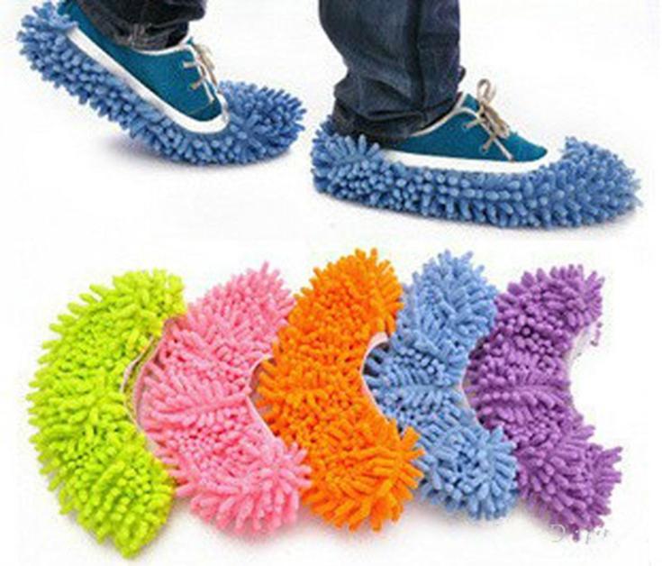 Новый 2017 Стиль 5 цветов Многофункциональный Синели Micro Волокно Обуви Пыль Покрывает чистке Шлёпанцы для женщин ленивый перетащить Обувь швабры шапки бытовой Инструменты