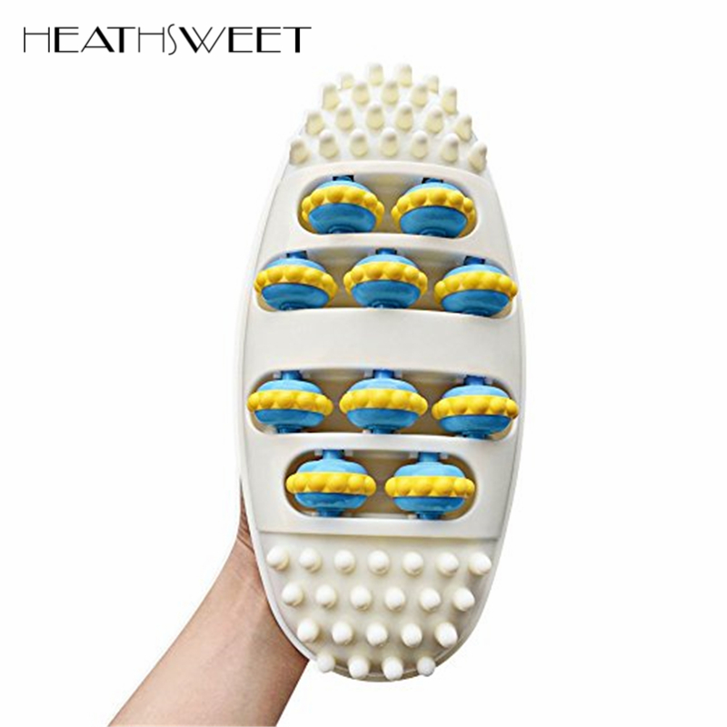 Healthsweet Plastic Foot Massage Roller Massager Foot Cushion Machine Feet Care Tool Reflexology Stress Spa Foot Mat Health Care electric foot massager foot massage machine for health care personal air pressure shiatsu infrared feet massager with heat 50030