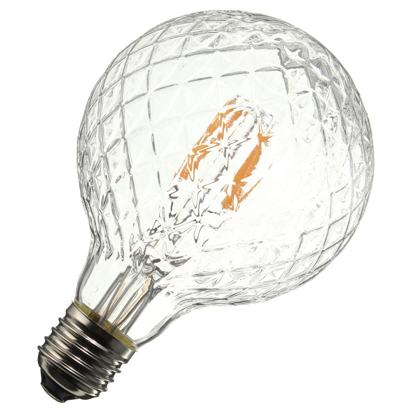 E27 4W Pineapple Ultra Bright COB LED Vintage Antique Edison Filament Bulb Light Lamp Warm White 500Lumen Non Dimmable AC85-265V high brightness 1pcs led edison bulb indoor led light clear glass ac220 230v e27 2w 4w 6w 8w led filament bulb white warm white