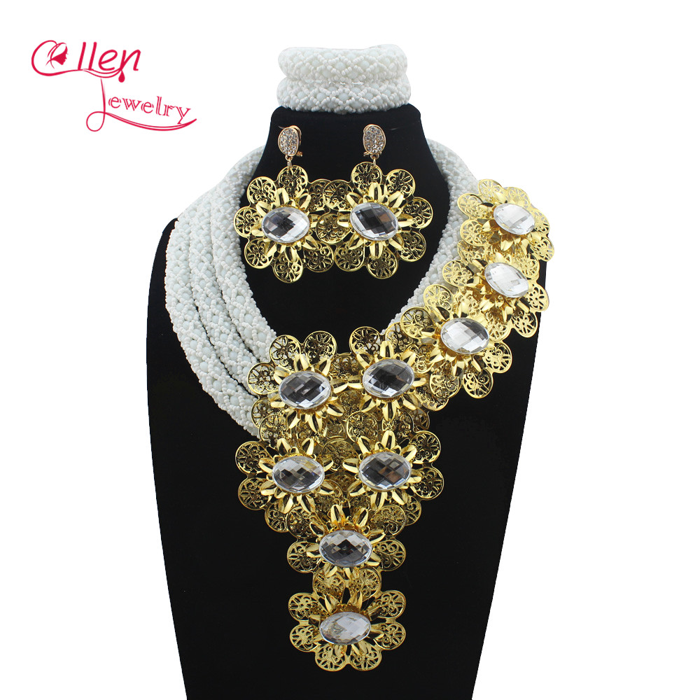 Luxury African accessories beads jewelry sets india nigerian flower beads beaded wedding necklace dubai jewelry sets E1154Luxury African accessories beads jewelry sets india nigerian flower beads beaded wedding necklace dubai jewelry sets E1154