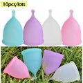 10 pçs senhora menstrual copo menstrual coletor menstruação copo copa menstrual de silicona medica para mulher período da vagina copo