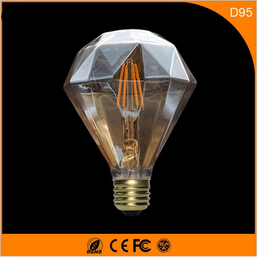 50PCS 3W Vintage B22 E27 Led Bulb ,D950 Retro Edison Light Bulb For Living Room Bedroom Coffee Bars AC 220-240V