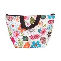 الجملة 10 * الغداء مربع حقيبة حمل معزول برودة حقيبة حمل ل نزهة-الزهور