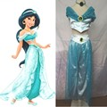 Halloween Costumes For Woman Custom Made Holloween Adult Princess Jasmine Cosplay Dress Princess Jasmine Costume For Lady Girl