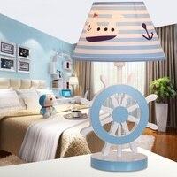 LED спальни исследование настольная лампа творческий мультфильм животных модные дети мальчики девочки комнаты Настольные лампы cl