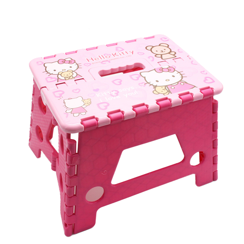 Camping And Fishing Garden Stool Hello Kitty Cartoon Folding Stool Outdoor Home Children Portable Stool Chair Loading 200KG bamboo bamboo portable folding stool have small bench wooden fishing outdoor folding stool campstool train