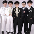 Roupas para crianças Crianças Menino Terno Do Casamento Festa de Casamento Desempenho Tuxedo Blazer Criança Roupas Conjunto 6 pcs Roupa Dos Miúdos Dos Meninos