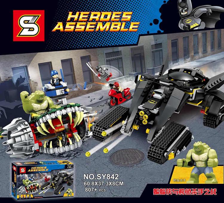 Набор Batman 807 шт Killer Croc Sewer Smash Red Hood строительные блоки 76037 совместимы с Lego