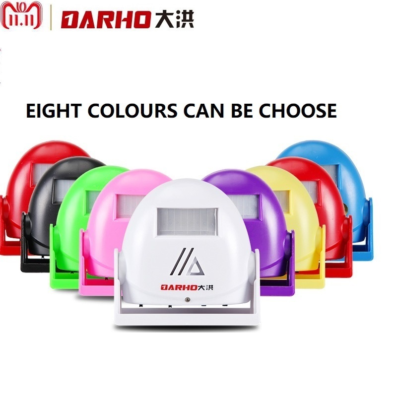 Darho Hello Welcome Wireless Intelligent Greeting Doorbell Welcome Infrared Motion Sensor Warning Door Bell Alarm 8 Colour darho infrared motion sensor alarm wireless intelligent welcome greeting doorbell 10m warning doorbell door bell