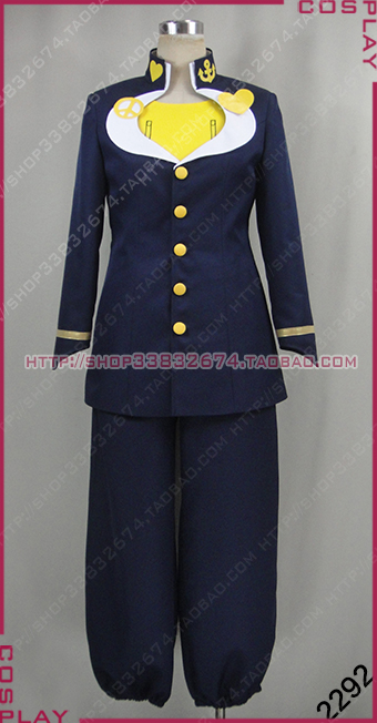 JoJo's Bizarre Adventure Josuke Higashikata Cosplay Costume top+pant+coat