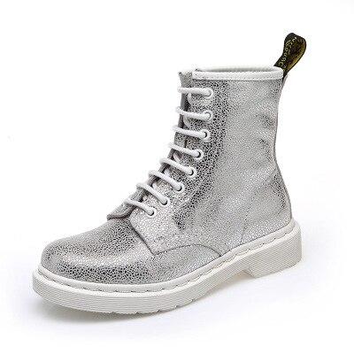 e8ca13c26386 Chaussures Mode 2018 Femmes Bottes Blanc Cheville Printemps Zapatos 1  Feminina Pour Cool 3 Bota Boot Super Argent 2 Femme Punk Mujer 1w1YqpB