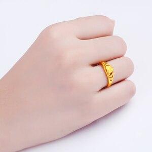 Image 4 - JLZB 24K czystego złota pierścień prawdziwe AU 999 czyste złoto pierścionki eleganckie błyszczące serce piękne ekskluzywne Trendy biżuteria Hot sprzedam nowy 2020