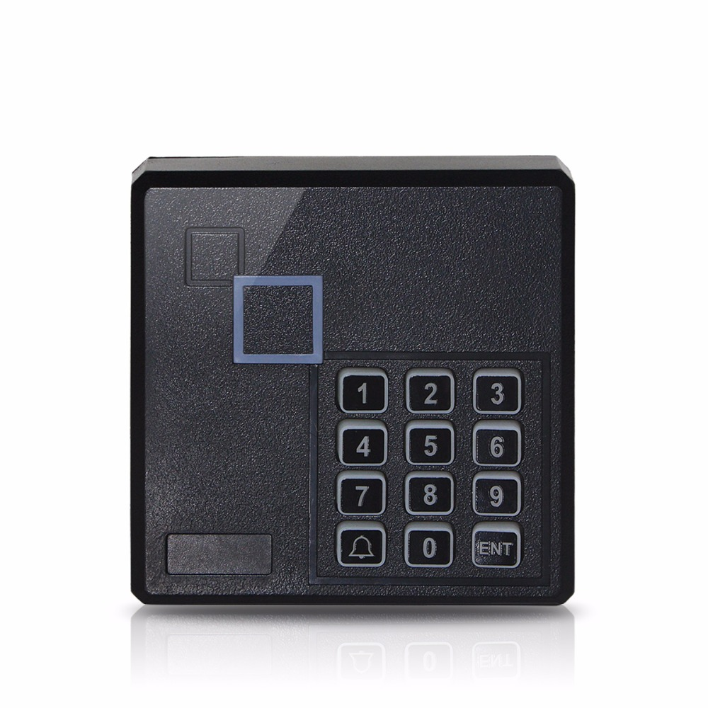 13.56 MHz Card Reader IC Door Access Control System With Keypad Waterproof Built-in Antenna/LED/Speaker For Home Security F1763A