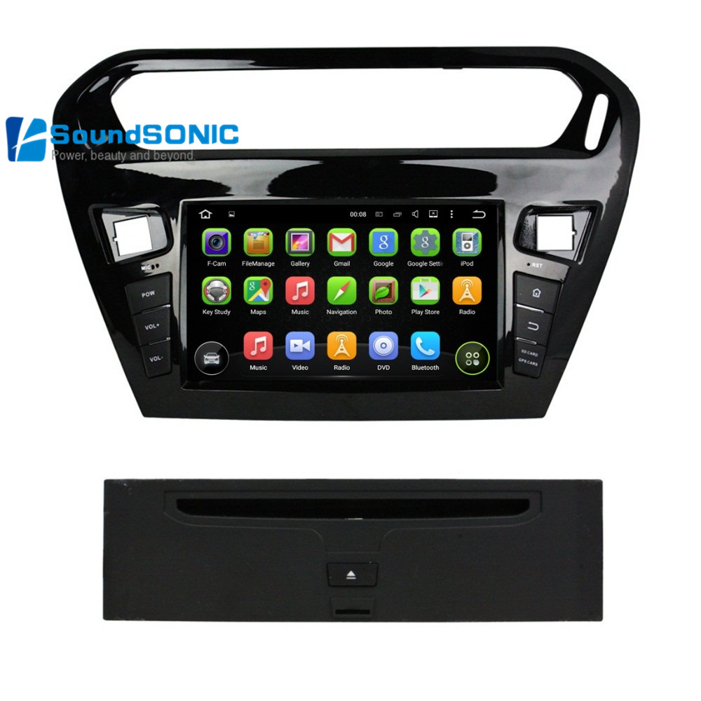 android 5 1 1 for peugeot 301 for citroen elysee touch screen car radio stereo dvd navigation. Black Bedroom Furniture Sets. Home Design Ideas