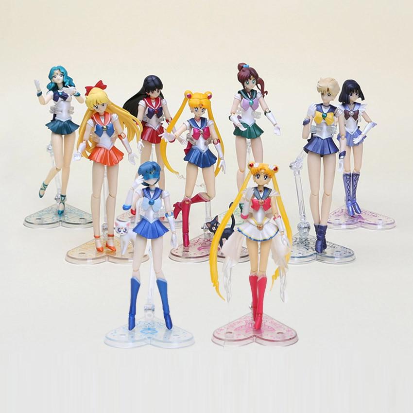 japanese action figure anime cute carton Interchangeable Face Sailor Moon figure girls toys 1