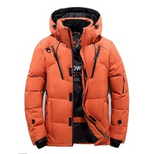 Fashion casual solid color large size hooded mens jackets and coats Winter 2018N