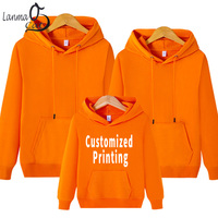 Lanmaocat Couples Matching Clothes Mother Dad Son Daughter Hoodies Printed Christmas Gift Family Hoodies Clothes Free Shipping