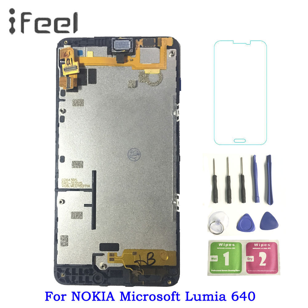 640 LCD Screen For NOKIA Microsoft Lumia 640 Display Touch Screen with Frame for NOKIA Lumia 640 LTE LCD Replacement640 LCD Screen For NOKIA Microsoft Lumia 640 Display Touch Screen with Frame for NOKIA Lumia 640 LTE LCD Replacement
