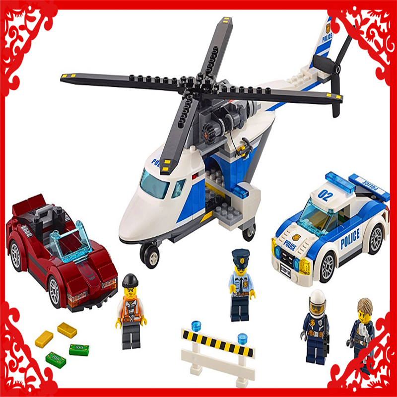 LEPIN 02018 City Police High-Speed Chase Building Block 317Pcs DIY Educational  Toys For Children Compatible Legoe jie star police pickup truck 3 kinds deformations city police building block toys for children boys diy police block toy 20026