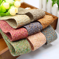 4cm Width 50yards Length Webbing Woven Mixed Color Yarn With Small Fragrance Wind Ribbon DIY Bow Accessories