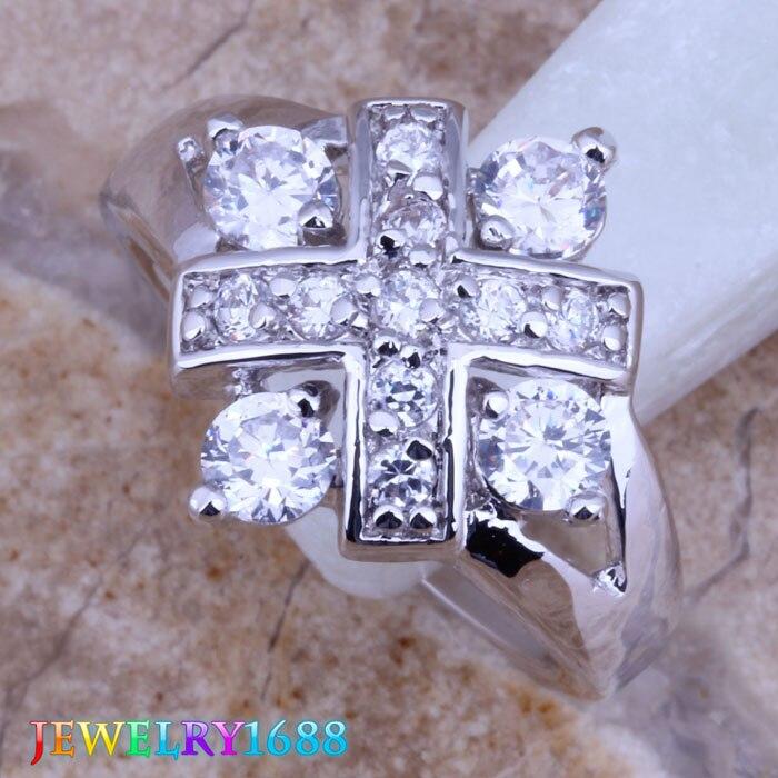 Impresionante Grueso Flor Cluster Diamantes Piedra Plata declaración Anillo Ajustable