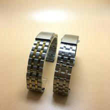 Wholesale 10 stainless steel five-bead steel strip 202 material metal watch strap watch accessories 18 20 22mm(China)