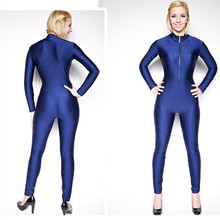 New Arrive Women's Unitard Yoga Sets Solid Zipper Lycra Full Bodysuit Physical Training Clothes Siamese Gym Catsuit Full Sleeve
