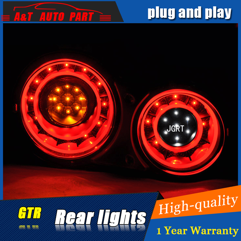 Car styling Accessories for Nissan GTR rear Lights led TailLight 07-12 for GTR R35 Rear Lamp DRL+Brake+Park+Signal lights led epr car styling for nissan skyline r33 gtr type 2 carbon fiber hood bonnet lip