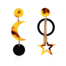 2019 Colorful Resin Drop Tassel Earring Elegant Geometric Dangle Charm Earrings Mature  Female Wedding Jewelry Accessories Gifts resin tassel geometric drop earrings