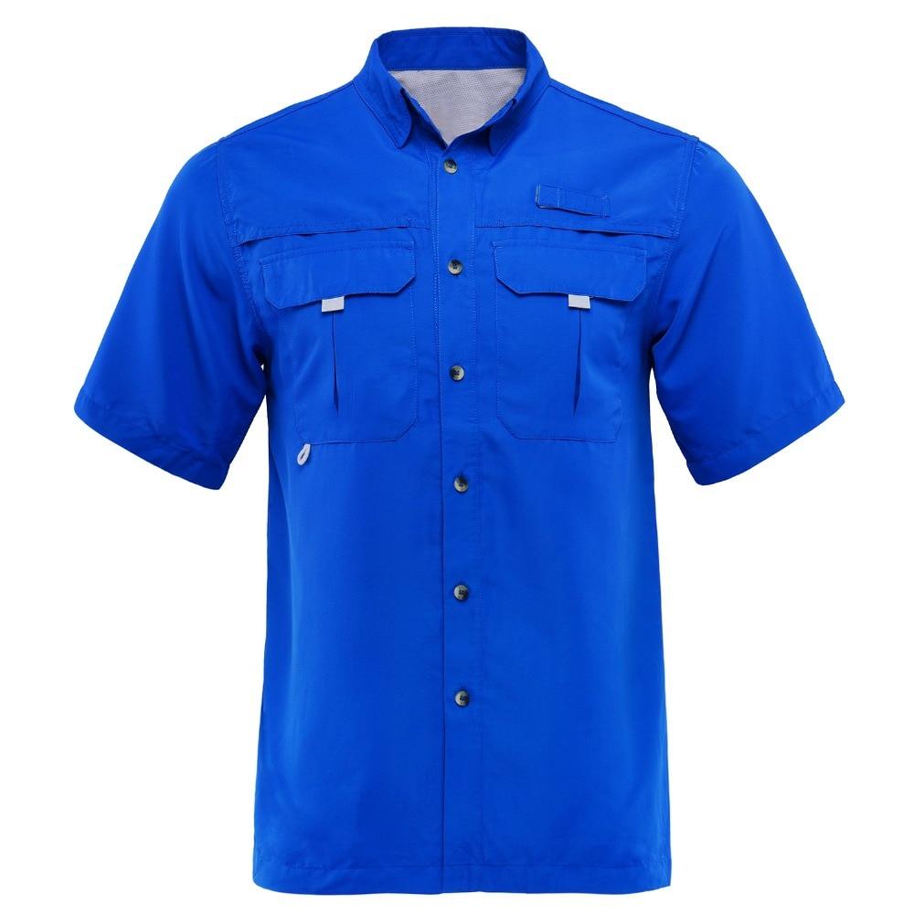 Outdoor Shirt Quick-Dry Summer Plus Man Men UPF40 Camisa M-XXL Usa-Size