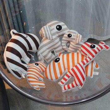 Милый слон, Детская плюшевая подушка, олень, супер мягкий детский диван, плюшевая игрушка с животными, Мультяшные подарки на день рождения
