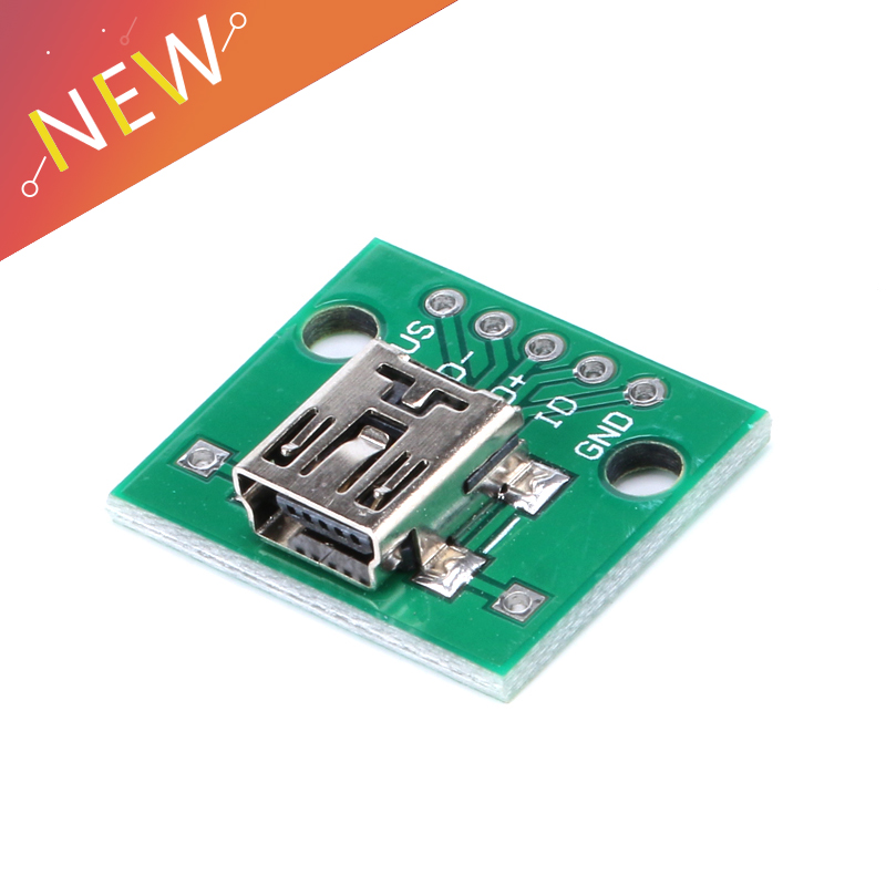 2/5/<font><b>10</b></font>/20Pcs <font><b>Mini</b></font> <font><b>USB</b></font> to DIP 2.54mm Adapter <font><b>Connector</b></font> Module Board Panel Female 5-<font><b>Pin</b></font> Pinboard 2.54mm <font><b>Mini</b></font> <font><b>USB</b></font> PCB Type Parts image