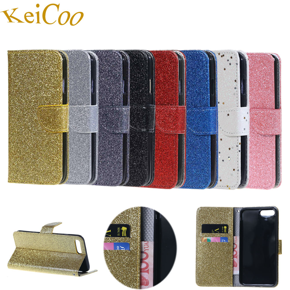 Bling Glitter Phone Cases For Apple iPhone7 iPhone 7 4.7 PU Leather Covers Capas For iPhone 7 iPhone7 Book Flip Mobile Coque