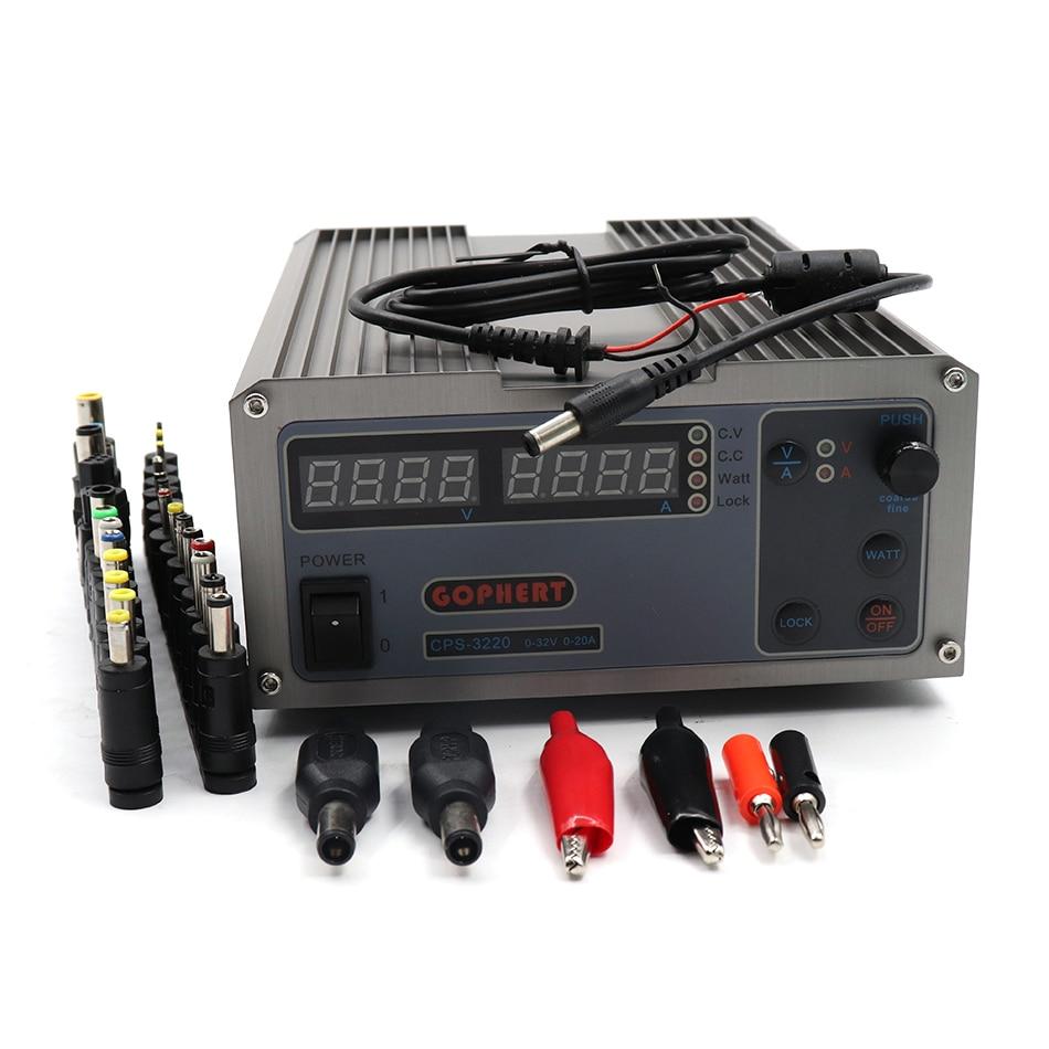 CPS-3220 Compact Numérique Réglable DC Alimentation de Commutation Laboratoire Alimentation 32 v 20A 30 v 10A 5A 640 w 110 v 220 v