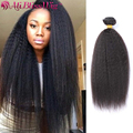 100% Unprocessed 6A Brazilian Kinky Straight Weave Virgin Human Hair Weft Mixed Lengths 3pcs Bundles Extensions Free Shipping