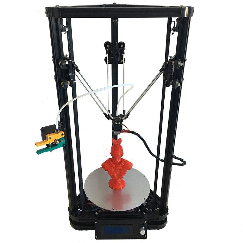 Haute précision full metal extrder K200 kossel delta bricolage 3D printer_injection en plastique parts_Z sonde et chaleur lit en option