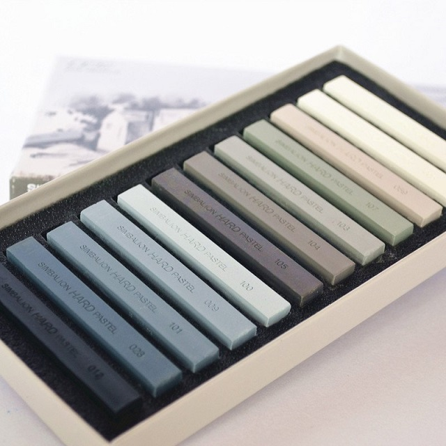 Simbalion 12 colors  Master  Gallery pastel  Sketch /life & nature tones /Fluorescent pastel  Art Drawing Supplies