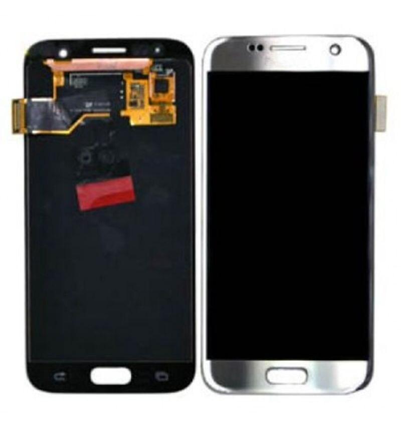 Super Amoled Pour Samsung Galaxy S7 G930 G930F G930I G930A SM-G930F Lcd Écran Affichage + Tactile En Verre Digitizer Assemblée Amoled