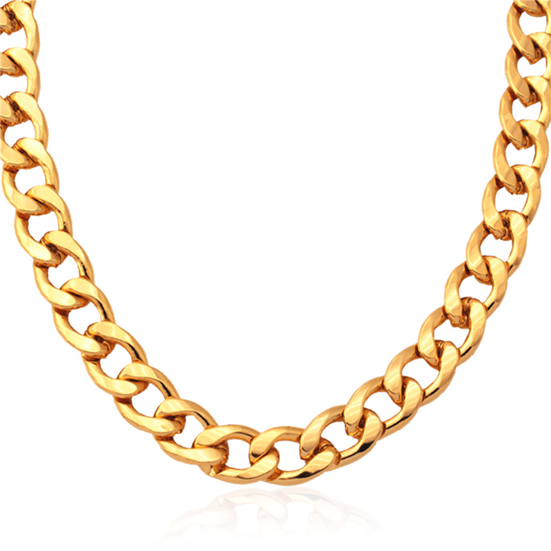 9ca3f1b85 Kpop جديد موضة الذهب اللون سلاسل مكتنزة قلادة سوار الرجال عالية الجودة  الأفعى قلادة 55 سنتيمتر N754 بالجملة