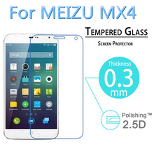 9H Anti Explosion 0 3mm 2 5D Tempered Glass Screen Protector Film for Meizu MX4 LCD