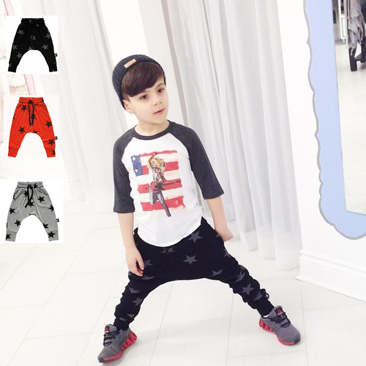 2016 New Fashion Clothes Baby Pants Boys Girls Harem Pants Soft Print Children Pants infant Trousers